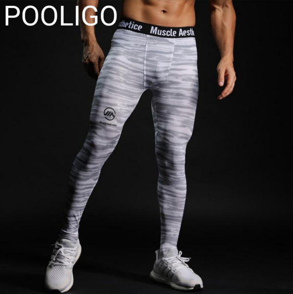 Compressions - Mens Compression Pants - Running Sports Gym Fitness Workout Training Bottoms