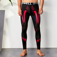 Compressions - Men's Compression Pants - Running Cycling Sports colour swirl pants