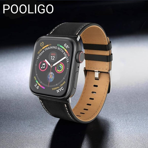APPLE - Leather Watchband For Apple Watch Series 4, 3, 2, 1 - 44mm/ 40mm/ 42mm/ 38mm