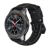 SAMSUNG - Leather Watchband for Samsung Gear S3/ Classic/ Frontier /S2 sport/ Galaxy 42/46mm