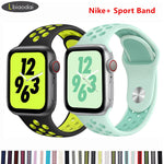 APPLE - Silicone Sports Coloured Strap For Apple Watch Series 4 3 2 1 - 38mm/ 40mm/ 42mm/ 44mm