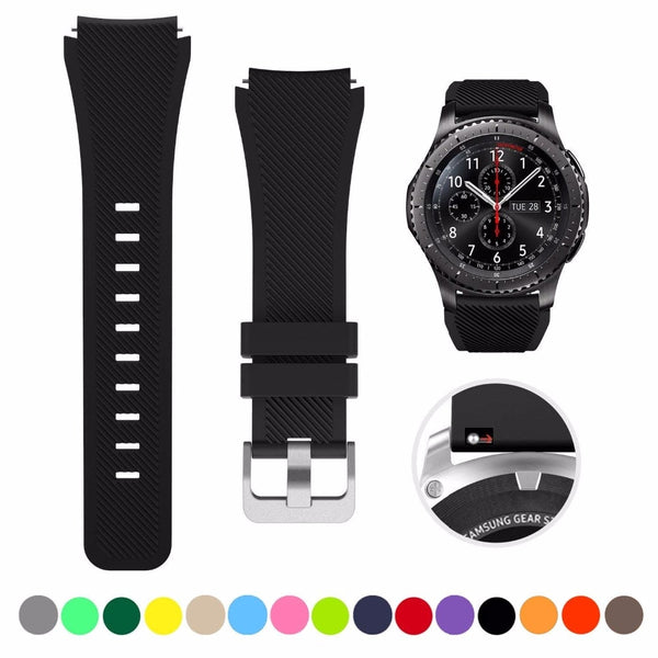 SAMSUNG - Silicon Sports Band For Samsung Galaxy Watch - 46mm/Gear S3 Frontier/Classic