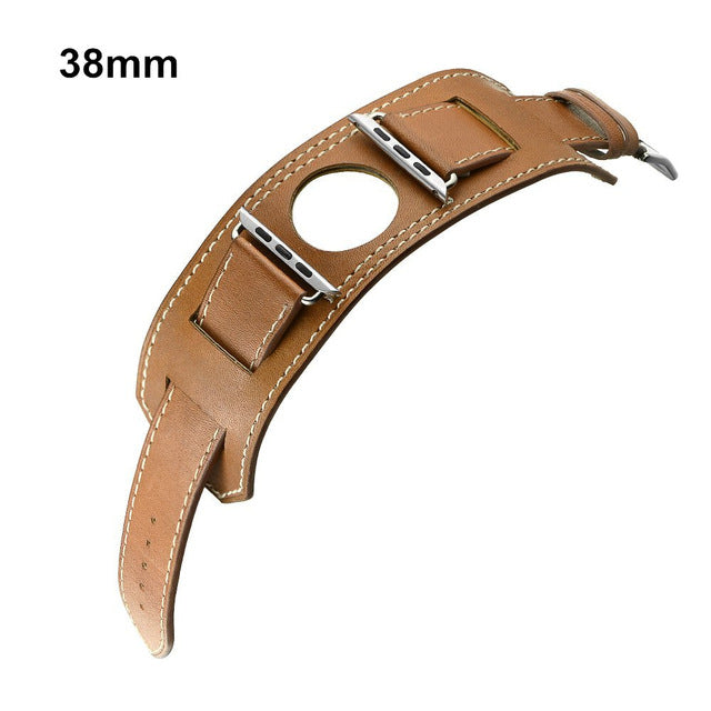 APPLE - Genuine Leather Watch Band for Apple Watch Series 1 2 3 - 42mm / 38mm