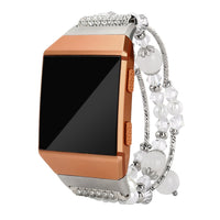 FITBIT - Fashion Beaded Bracelet Strap Band For Fitbit Ionic