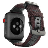 APPLE - Nylon Genuine Leather Watch band for Apple Watch Series 1 2 3 4