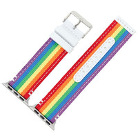 APPLE - Pride Rainbow nylon watchband strap for Apple Watch Series 3/ 2/ 1 - 38mm/ 42mm