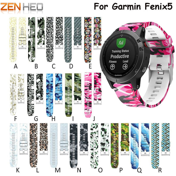 GARMIN - Silicone Sports Strap For Garmin Fenix 5 Smart Watch