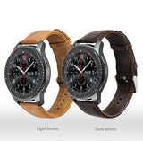 SAMSUNG - 22mm Leather Strap for Samsung Gear S3/ Classic/ Frontier/ Galaxy Watch - 46mm