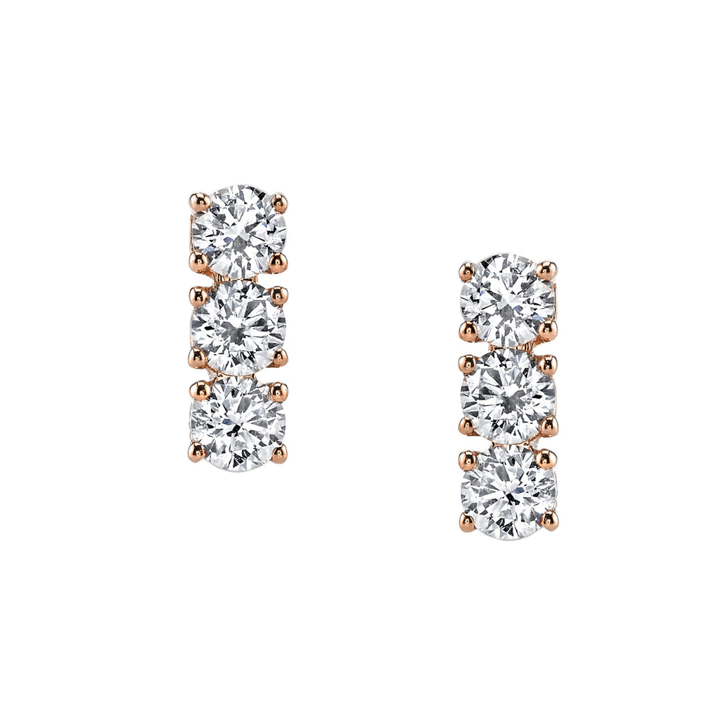 3 Dot Diamond Earrings