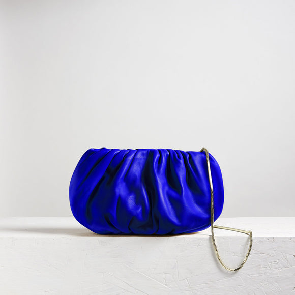 Large Bubble Clutch Electric Blue