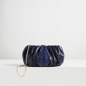 Large Bubble Clutch Python Navy
