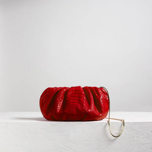 Large Bubble Clutch Python Red