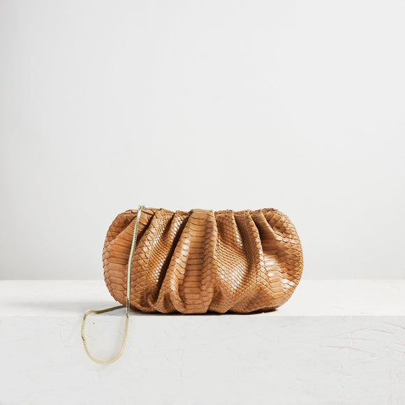 Large Bubble Clutch Python Warm Sand