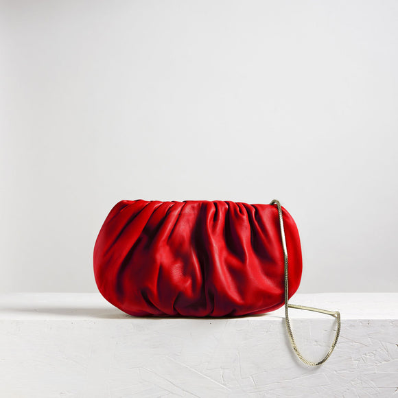 Large Bubble Clutch Red