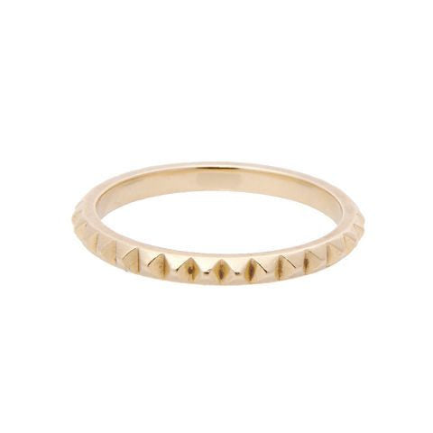 Spike 14k Gold Eternity Band