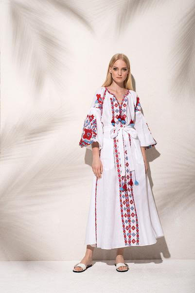 Flower Pixel Maxi Dress