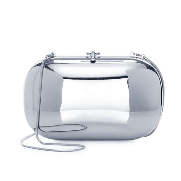 Elina Plus Mirrored Chrome Clutch