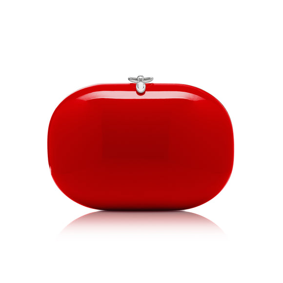 Elina Red Gloss Clutch
