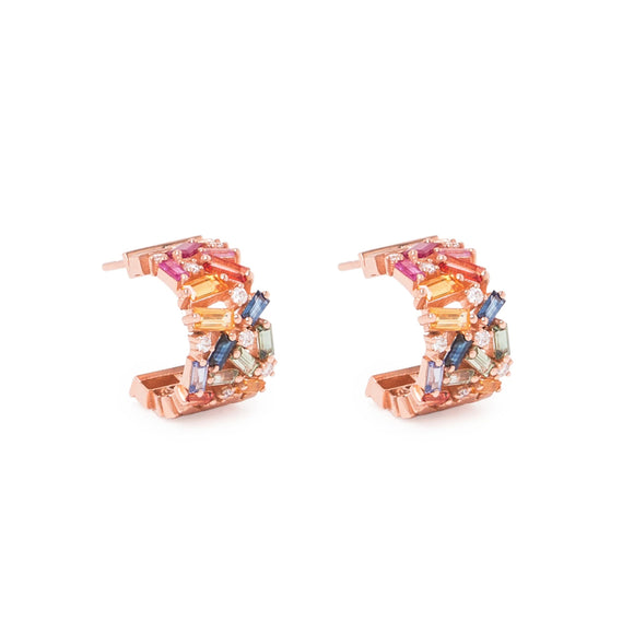 18K Rainbow Fireworks Earrings