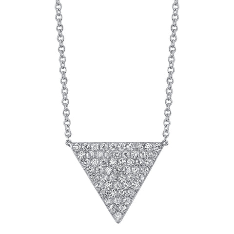 Medium Pave Triangle Necklace