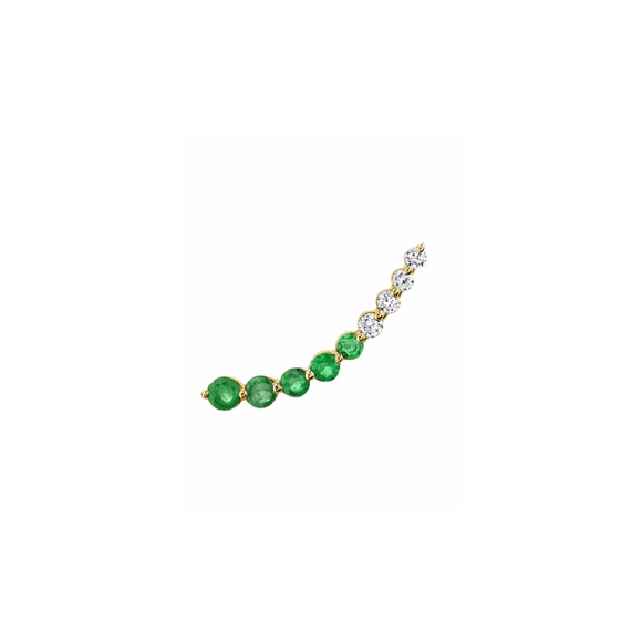 Emerald & Diamond Ear Floater