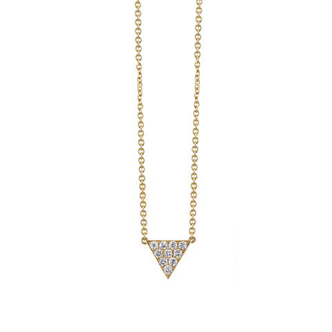 Small Pave Triangle Necklace