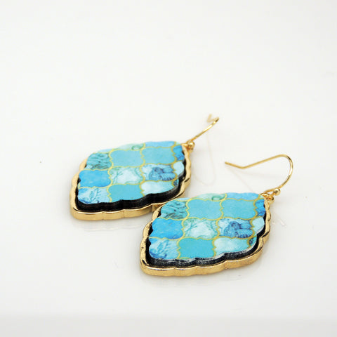 Tell Your Tale Blue Moroccan Drop Earrings