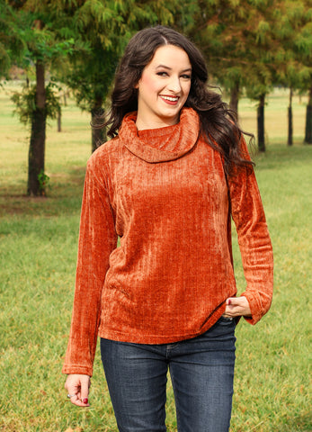 Rust Colored Soft Pullover Turtleneck