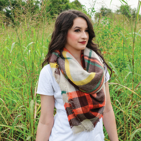 Fall Multicolored Blanket Scarf