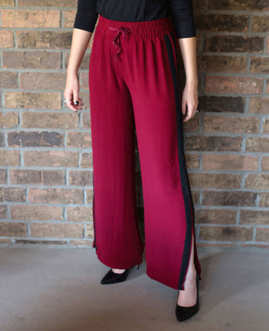Wine Colored Casual Pants