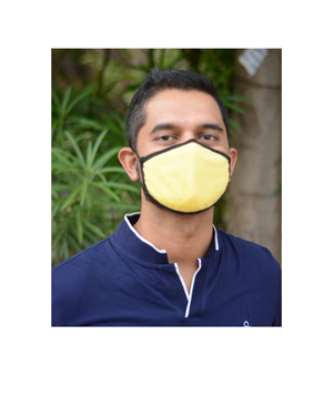 FACE PROTECTOR WITH LONG LOOP - YELLOW COLOUR (Pack of 3)