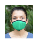 Uno Reusable Mask with Long Loop: Green Colour (Pack of 3)
