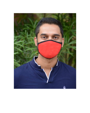 FACE PROTECTOR WITH EAR LOOP - RED COLOUR (Pack of 3)