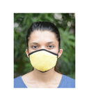The One Mask Certified Reusable Washable Protective Face Mask for Men Women and Kids - Yellow Colour