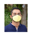 Buy Reusable Mask with EarLoop: Yellow Color (Pack of 3)