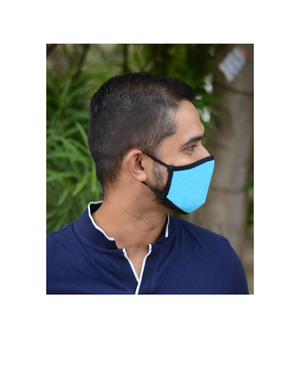FACE PROTECTOR WITH EAR LOOP - TURQUOISE COLOUR (Pack of 3)