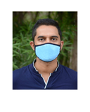 Anti Pollution Mask with Long Loop in Turquoise Color