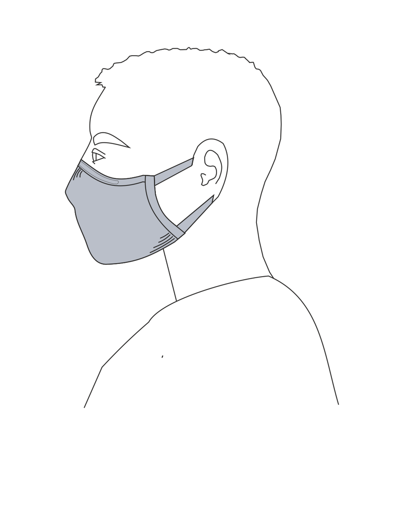 Reusable Mask for Men, Women and Kids: Navy Blue Color