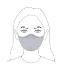 Anti Pollution Mask with Long Loop: White Color (Pack of 3)