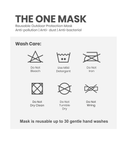 The One Mask Certified Reusable Washable Protective Face Mask for Men Women and Kids - Red Colour