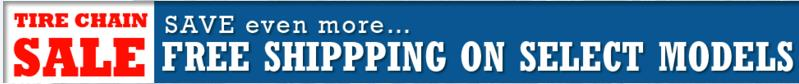 Tire Chains Free Shipping on Select Models