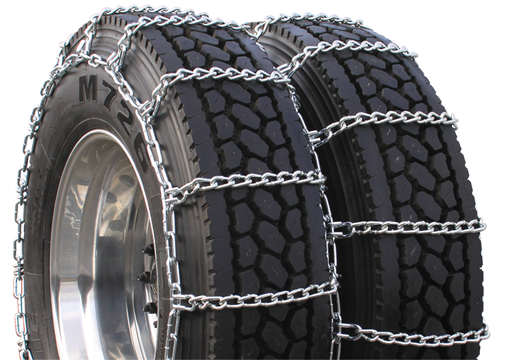 275/80-24.5 Dual Triple Highway Twist Link Tire Chain CAM