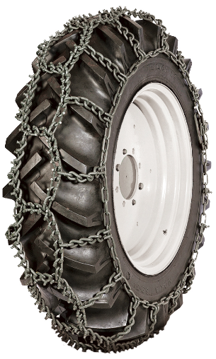 16.9-26 Piggelin Flex 11MM Studded Grader Loader Tire Chain