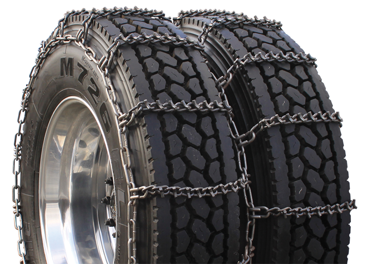 9.50-16.5 Dual Triple V Bar Tire Chain CAM