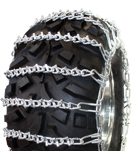 24x11.00-12 2-Link V-Bar Reinforced ATV Tire Chains