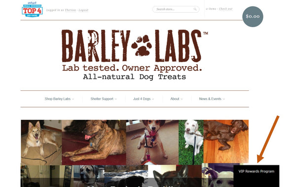 Sign up for Barley Labs VIP Rewards Program, Discounts