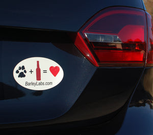 Woofs & Love Car Magnet