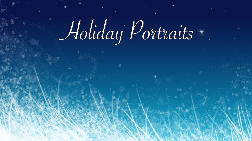 Holiday Portraits, Sat. Nov. 10
