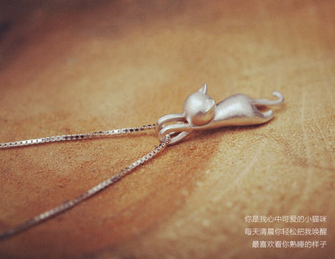 925 Sterling Silver  Cats  Necklaces Jewelry