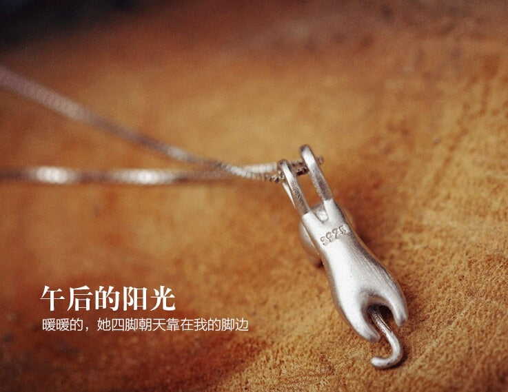 925 Sterling Silver  Cats  Necklaces Jewelry 的副本
